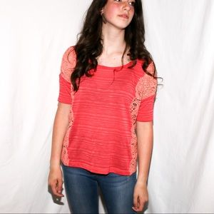 We The Free Lace sides boxy top